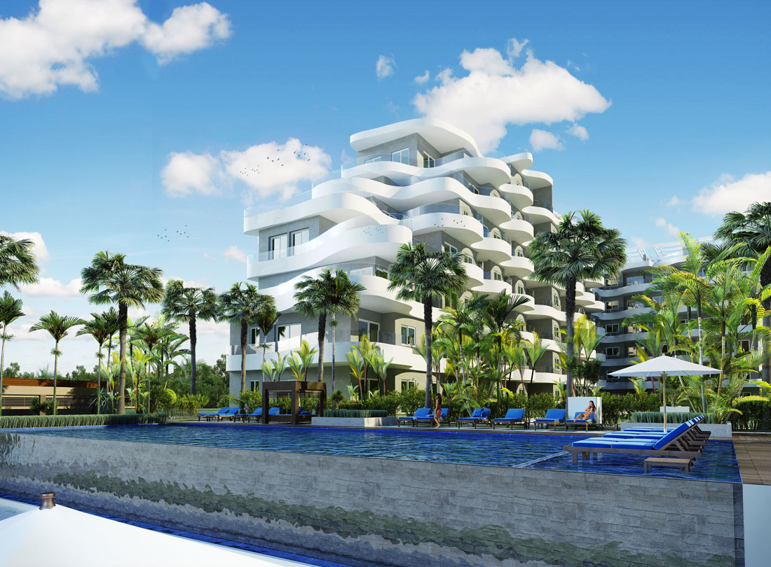 ONE Cable beach Day time building rendering