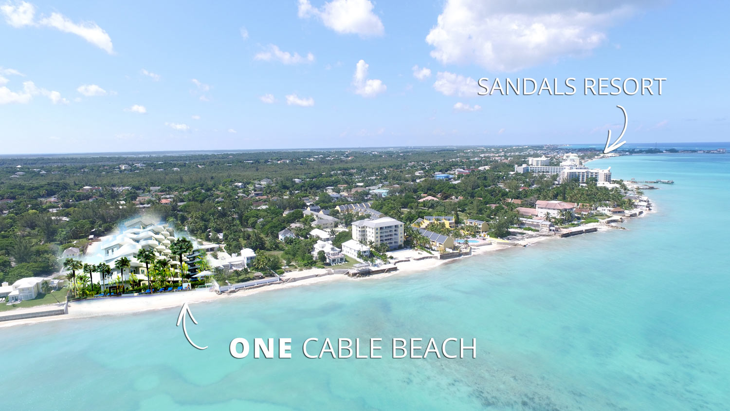 ONE Cable Beach close to Sandals Resort
