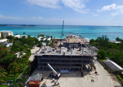 view from beach contruction of one cable june-2016