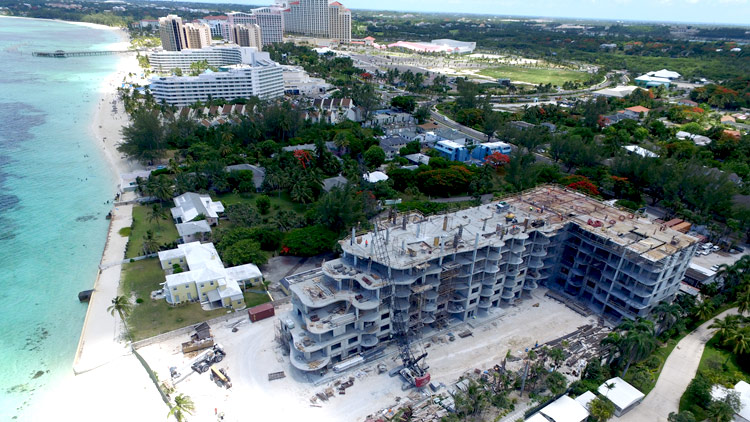 Oceanfront Condos Bahamas-One-Cable-beach construction July 2016
