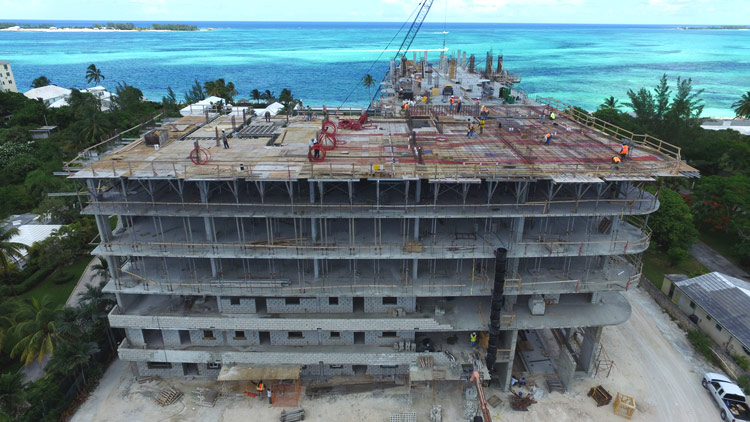 Waterfront Bahamas Construction progress One Cable July 2016